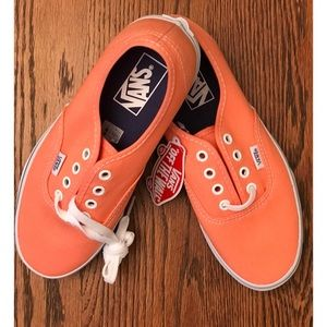 Van's orange tennis shoes